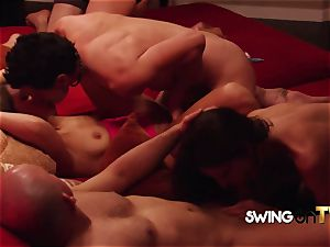 rough fellow hubby chills out to enjoy the swingers soiree