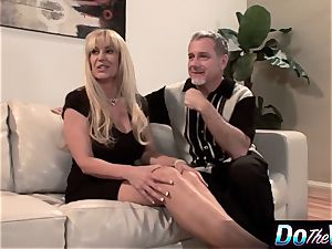 blond milf porks in front of her spouse