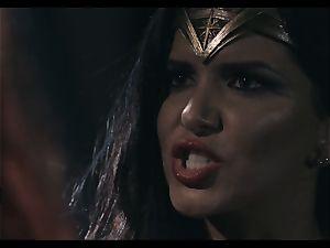 Justice League hard-core part trio - Romi Rain and Charlotte Stokley