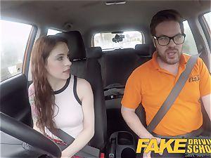 fake Driving college USA babe Anna De Ville
