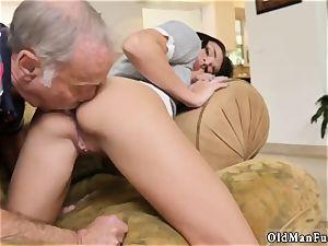 aged grandfather cum shot lady internal cumshot railing the elder sausage!