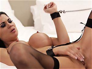 Deeply entering sex sub Jasmine Jae with pink cigar