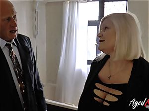 AgedLovE Lacey Starr ravaged hard with Sales Agent
