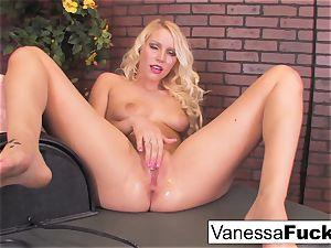 gorgeous Vanessa box Takes On The sybian saddle