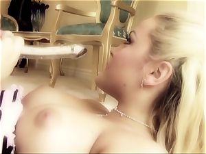 porn honey Tori black is inserted in suspenders
