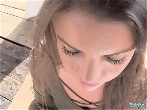 Public Agent marvelous schoolgirl Vany Ully creampied outdoors
