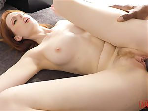 big black cock buries its way into the bunghole of ginger Alex Harper