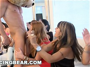 CFNM hotel party with hefty shaft masculine Strippers