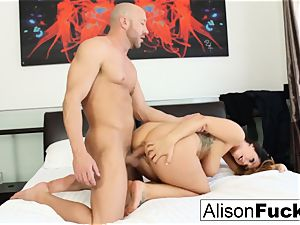 bodacious Alison takes some great trunk in her bedroom