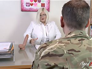 AgedLovE Lacey Starr boinking rigid with Soldier