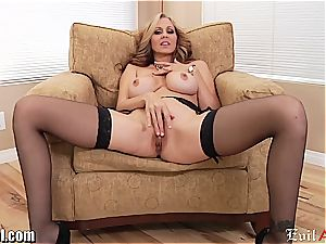 crazy cougar Julia Ann gives a filthy point of view blowjob