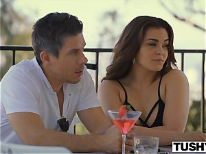 TUSHY girlfriend Gets predominated By power duo On Vacation
