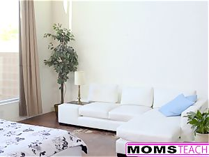 MomsTeachSex - sizzling Step-Mom And nubile Get filthy facial