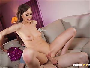 Tina Kay tucked in her cock-squeezing snatch