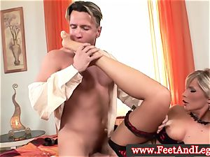 Tiffany Rousso sole fetish honey fingered in high def