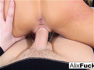 Alix makes supreme use of a hefty weenie