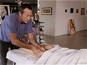 wonderful Mimi Rogers gets her whole bod rubbed
