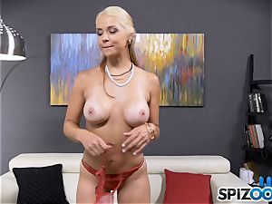 sexy nasty honey Sarah Vandella has a caboose cork inserted in her donk