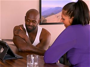 bi-racial couple calls upon a dark buddy to come over for scorching 3some