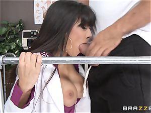 medic Mercedes Carrera works wonders with her hooters