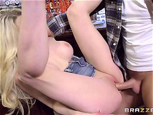 british platinum-blonde sweetheart Tamara mercy railing Keiran Lee