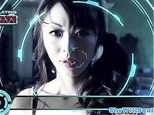 chinese porno star Marica Hase gets a bathtub facial