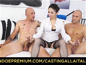audition ALLA ITALIANA - steamy cougar has double assfuck joy