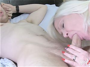 AgedLovE busty Lacey Starr hard-core and blow-job