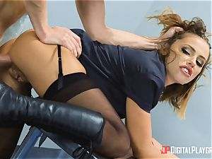 Adriana Chechik buttfuck plowed at the security gates