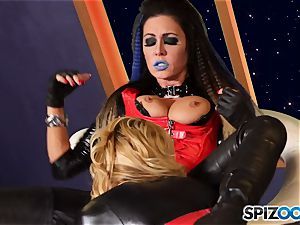 Minge munchers Jessica Jaymes and Cherie Deville get naughty on this space mission