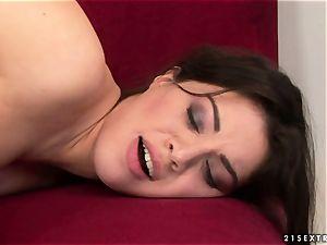 Tiffany damsel kissing warm with mature lady
