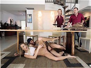 Tiffany Watson getting caught deepthroating cock again