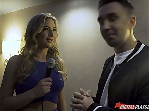 Blair Williams ultra-kinky beaver bashed after interviewing Keiran Lee