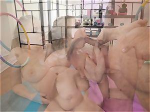 Danny slides his fuckpole into the bootie of yoga honey Lena Paul