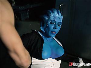 Space porno parody with torrid alien Rachel Starr