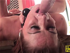 ginger-haired brit gimp butt-banged and roped