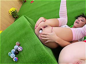 naughty lesbians frolicking anal golf