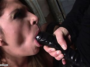 Kathia Nobili lets a steamy lady inhale her string on