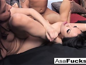 Asa and Dana team up for a torrid threesome with Derrick