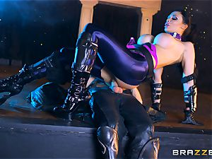 Aletta Ocean plunged with the monster bone of Danny D