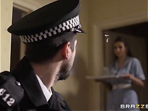 Nurse Connie Carter nails her charge