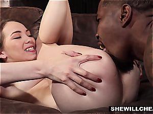 SheWillCheat - hotwife wife Pounces On black wood