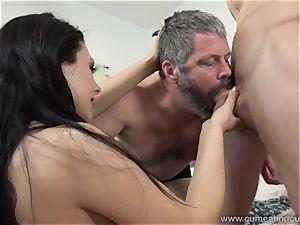 Megan Sages husband jerks lil' rod As She Gets screwed