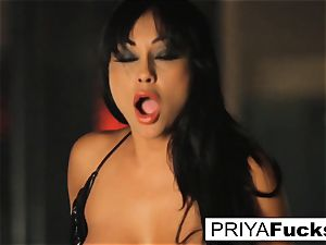 big-chested Priya Rai rails the sybian at the de-robe club