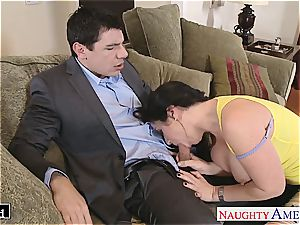 big-titted Jayden Jaymes munched out and torn up hard