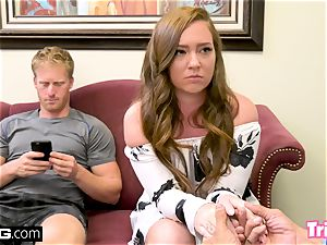 Maddy screws the therapist while her husband waits
